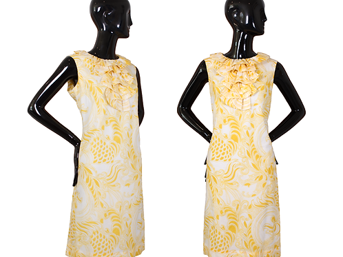 1960's Jerrie Lurie Paisley Print Shift Dress