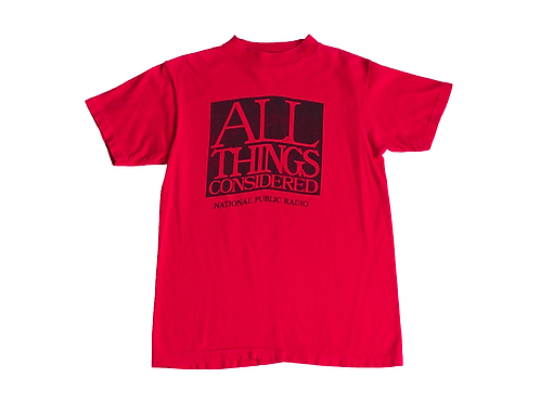 80's/90's NPR All Things Considered T-shirt