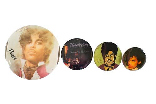1980's Prince (Purple Rain Era) 4 Button Set
