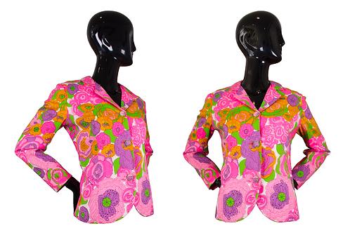 1960's Lanz Original Floral Print Jacket