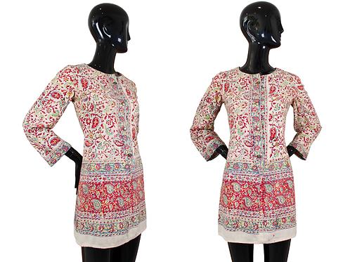 60's/70's Long Sleeve Paisley Print Mini Dress