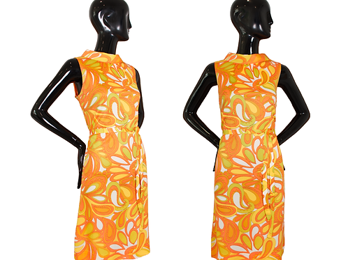 1960's Mod Scooter Dress w/Paisley Print