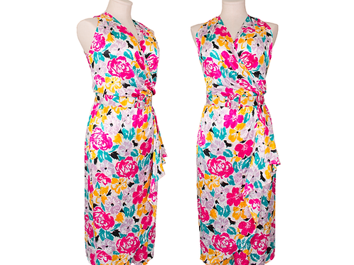 1980's Deadstock Halston III Floral Print Dress