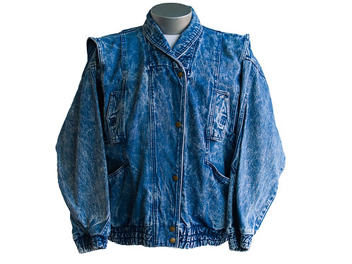 1980's Stefano Stonewash Blue Jean Jacket