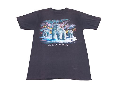 1980's Alaska T-shirt w/Northern Lights and Polar Bears