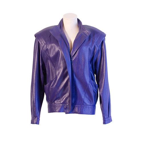 1980's Julian K. Purple Leather Jacket