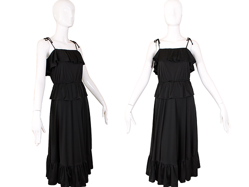 70's/80's Black Tiered Disco Dress