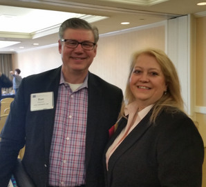 Cheryl Hyatt and Avila University President, Ron Slipitza at the Council of Independent College's Pr