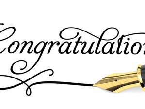 Congratulations Are in Order!