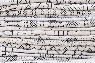 Black and White Mudcloth Fabric