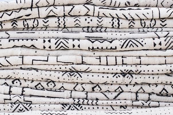 Black Pattern on White Fabric