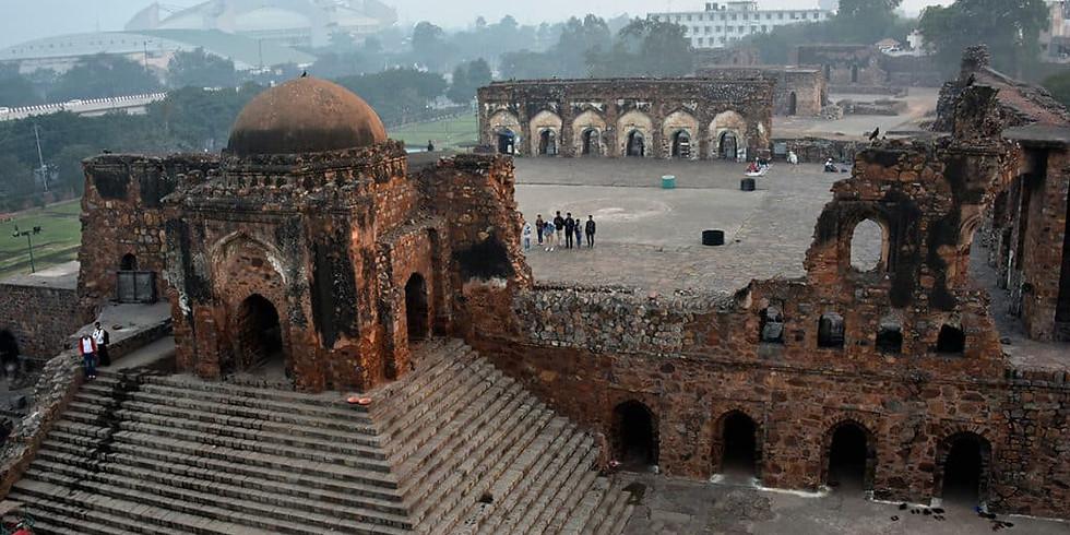 Feroz shah kotla fort, khooni darwaza, dolls museum
