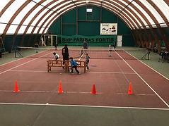 Cours de baby tennis au tennis club de Gembloux