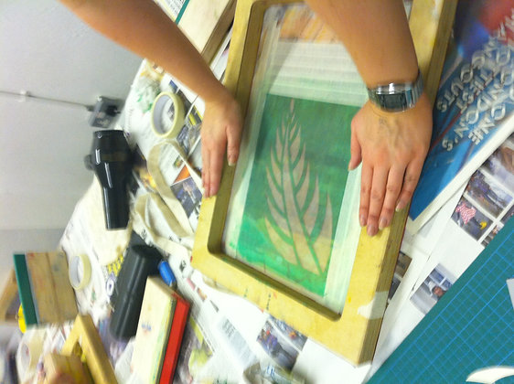 2hour beginers screen printing class