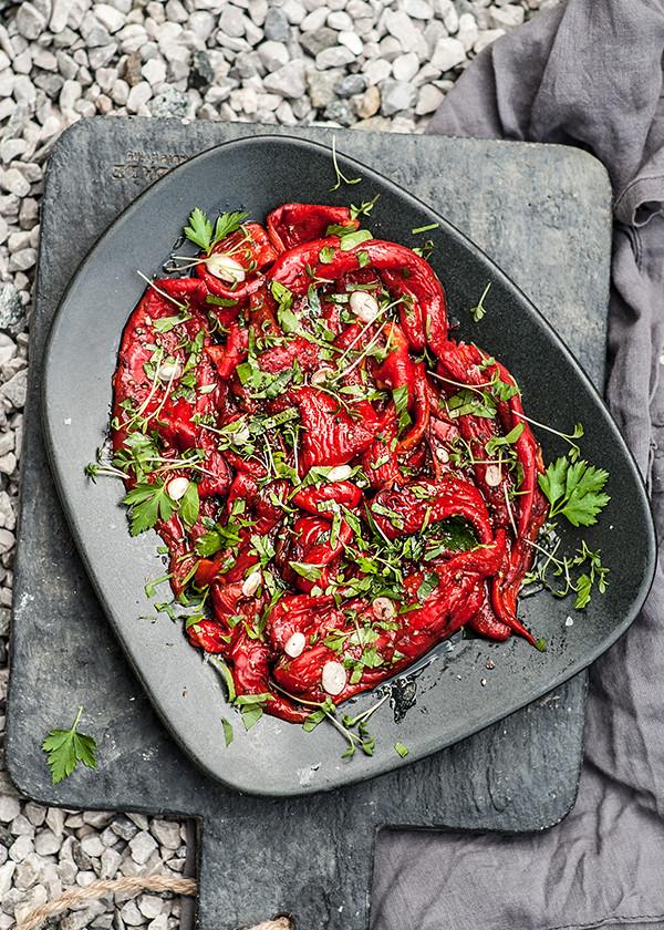 marinierte paprika vom grill
