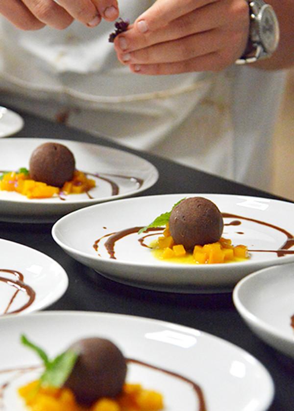 vorbereitung nachspeise schokolade küche