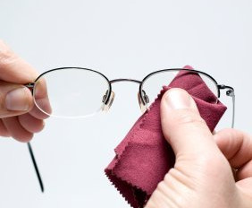 How can I clean my glasses ?