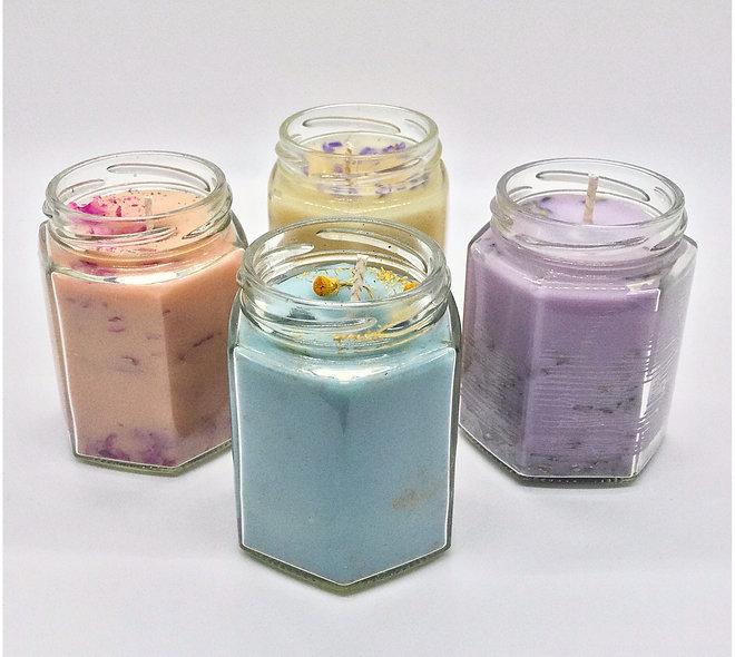 "Rustic Mason Jar ""Moonlite"" Candles"