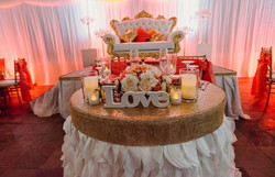a totally glam coral set up