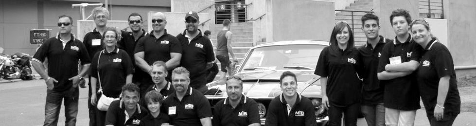 Mustangs in Black staff and volunteers working at the Channel 7 Good Friday Appeal Kids Day Out in Melbourne