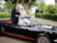 Mustangs in Black 1966 GT Convertible Ford Mustang in Melbourne for a wedding shoot. Photo by Hakan Dalar Photography