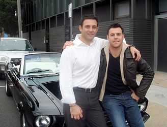 Mustangs in Black with actor Rodger Corser.