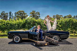 Mustangs in Black 1966 Shelby GT350 Convertible Ford Mustang at Immerse Winery in the Yarr Valley outside Melbourne for a styled wedding shoot by Euro Photography