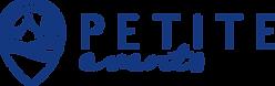 22671 Petite Events Logo - BLUE - CMYK v