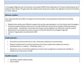 La CRCC recrute, pour son service Communication un Alternant (e)