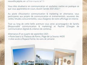 assistant.e communication & marketing - Thalasso ALLIANCE PORNIC - ALTERNANCE