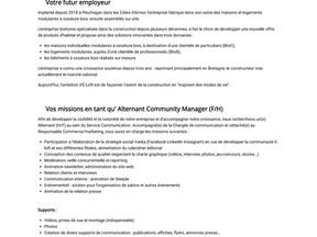 Alternant Community Manager F/H - E-loft