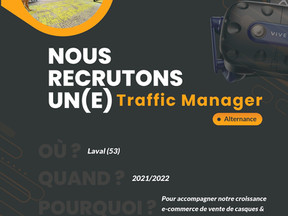Immersive Display - Recrutement alternance Traffic Manager 2021/2022.