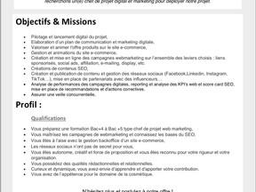 ART DU PARFUM - Chargé(e) de projet webmarketing - Alternance