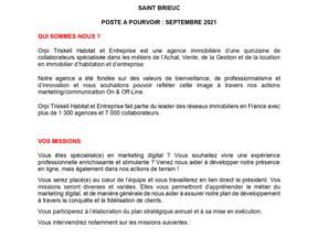 Orpi - recherche un(e) alternant(e) Chargé(e) de marketing, communication & community management