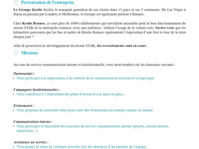 KEOLIS Rennes - chargé(e) de communication interne et institutionnelle en alternance.