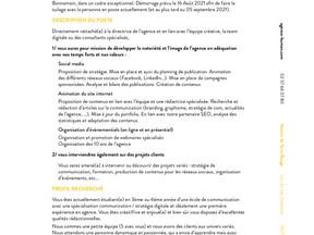 Agence HUMAN - Chargé(e) de communication junior