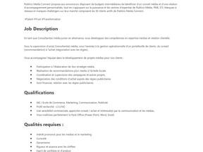 Publicis Media Connect -Alternance – Consultant(e) média Junior - RENNES (H/F)