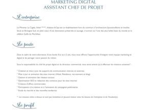 Le Miramar La Cigale, hôtel *****- OFFRE D'ALTERNANCE MARKETING DIGITAL ASSISTANT CHEF DE PROJET