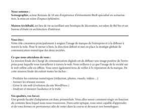 Maison Achibald recherche sa ou son chargé(e) de communication sur Rennes