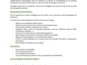 Telitem - alternance Webdesigner  ( H/F)