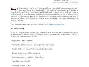 Avril - Communication RESPONSABLE QUALITE SECURITE ENVIRONNEMENT– H/F