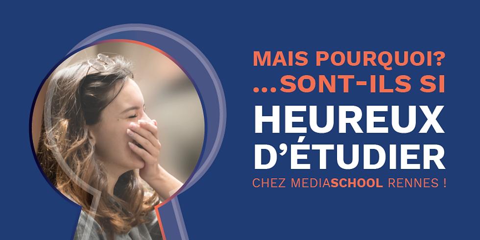 Mais pourquoi sont-ils si heureux d'étudier chez MediaSchool Rennes ?