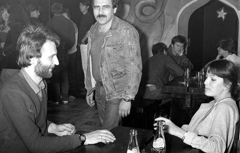 Marek Suszkiewicz i Andrzej Zaucha w Klubie Pod Jaszczurami, Kraków lata osiemdziesiąte