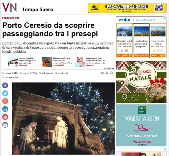 Porto Ceresio da scoprire passeggiando tra i presepi  Varesenews.it
