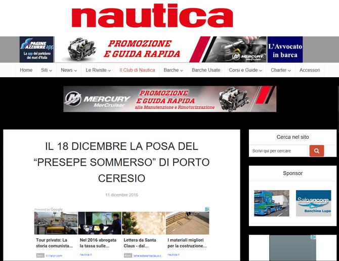 """IL 18 DICEMBRE LA POSA DEL """"PRESEPE SOMMERSO"""" DI PORTO CERESIO - Nautica.it"""