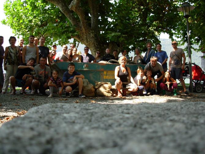 Bissone 30 agosto 2015 - Pulizia del lago con gli amici di ASFOPUCE