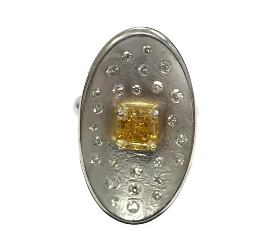 Orange diamond, Natural Orange Yellow diamond ring, one of a kind ring,