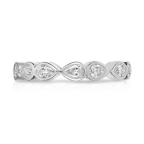 Eternity band, Pear shape diamonds, Modern diamond band