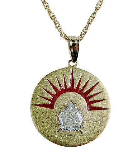 Buddha diamond pendant, Buddha Gold necklace, hand made on of a kind Buddha necklace