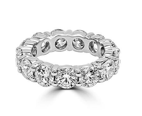 Round diamond eternity band, eternity band, 4 ct eternity,